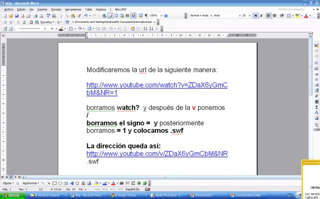 noveno paso como insertar vídeo de you tube en powerpoint