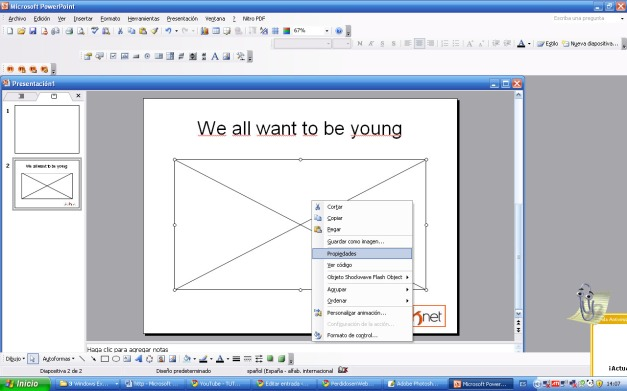 quinto paso como insertar un vídeo de you tube en powerpoint